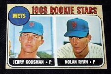 1968 TOPPS BASEBALL ROOKIE CARD NOLAN RYAN REPRINT NRMT-MINT RANGE M