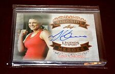 Gina Carano Signed Autograph Card UFC Leaf 2015 MMA