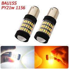 2X BAU15S 7507 LED Turn Signal Light Canbus No Hyper Flash Error Free EDO