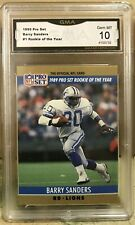 1990 Pro Set Barry Sanders #1 Rookie of the Year GMA 10 Gem MT
