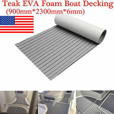 "35""X91"" Self-Adhesive EVA Foam Boat Teak Decking Floor Light Grey Mat Yacht"
