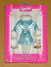 Fashion Avenue Blue Coat and Hand Muffs Barbie Doll Accessory set Mattel