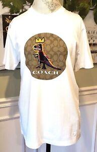 COACH X JEAN-MICHEL BASQUIAT SIGNATURE T-SHIRT:NWT SMALL PEZ DINOSAUR C5219