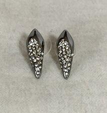 NEW Alexis Bittar Gunmetal Crystal Spike Kite Mini Stud Earrings $95
