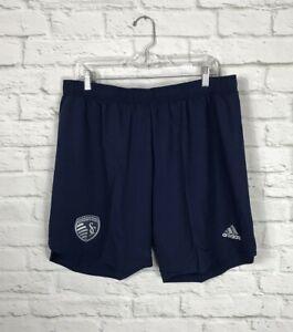 NEW Adidas Kansas City Sporting MLS Soccer Shorts Size XL