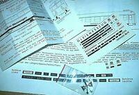 HO Ersatzteil Zurüstteile Indusimagnet Scheinwerfer Messing Beschriftung Messzug