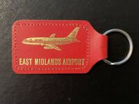 EAST MIDLANDS AIRPORT - (ORION AIRWAYS) - LEATHER - KEY RING - VGC