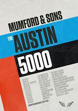 "MUMFORD & SONS ""AUSTIN 5000"" 2018 U.S. CONCERT TOUR POSTER-Folk / Alt Rock Music"