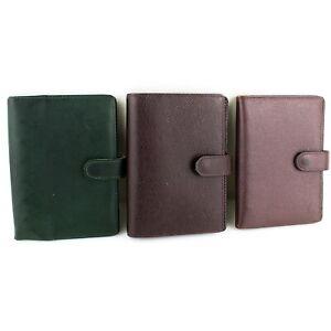 Auth LOUIS VUITTON AGENDA PM Notebook Cover Taiga Leather Acajou Epicea 3Pcs Set