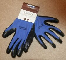 BRIERS SIZE LARGE BLUE RIB MULTI PURPOSE OUTDOOR / GARDEN GLOVES WATER RESISTANT