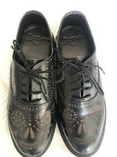 Super Rare Dr Martens Aila Black leather Shoes Size 5 NWB Brand New Stunning