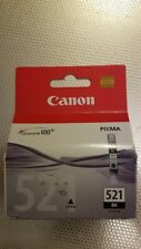 Genuine Canon CLI-521BK Black Ink Cartridge-Single Pack- SEALED BOX.