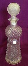 Oberglas Austria Hobnail Glass Tall Bottle Decanter Diamond Pattern 11.5 in hig