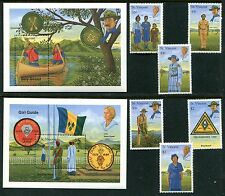 St Vincent 1280-87 MNH Boy Scouts and Girl Guides 1989 Lord Baden-Powell, x11649