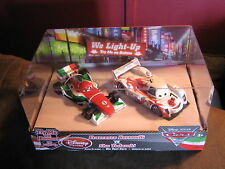 DISNEY CARS DISNEY STORE 2-PACK LIGHT UPS SHU TODOROKI & FRANCESCO BERNOULLI