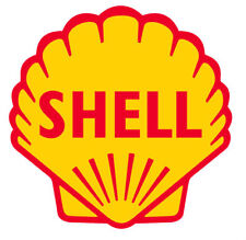 SHELL STICKER hotrod split bug lambretta vespa 70mm