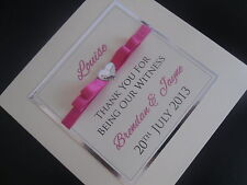 Handmade Personalised Wedding Party Thank You Card (Mother of the Bride/Groom)