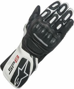 Womens Alpinestars Motorbike Gloves Stella SP8 V2 Motorcycle Black White S