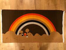 Tampella Fabric Wallhanging Rainbow Mushroom Mid Century Panton Gnome village
