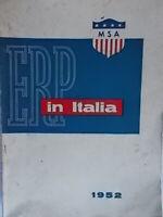 ERP in ItaliaMSA apollon roma1952 economia storia piano marshall ricostruzione