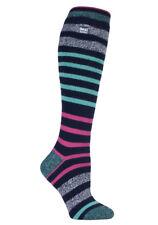 Heat Holders - Ladies Thin Extra Long Knee High 1.6 Tog Patterned Thermal Socks 4-8 UK Broughton