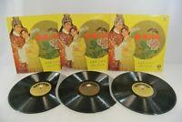 Chinese Folk Opera 3-Record Set Tien Shing Records TSLP-2084 Hong Kong Vinyl LP