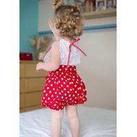 Newborn Infant Baby Girl Ruffled Bodysuit Romper Jumpsuit Clothes Outfit Sunsuit
