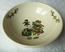 Metlox California~HAPPY TIME large salad serving bowl~HTF pattern and item-NR