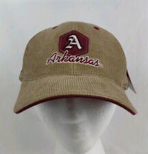 NCAA Arkansas Razorbacks Corduroy Embroidered Strapback Hat  Cap Deadstock NWT