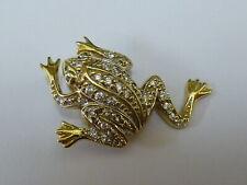 Stunning 9ct Gold CZ Set Frog Pendant - Fully hallmarked -