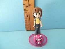 "Negima! Magister Negi  3""in PVC Figure Cute Young Girl w/ Pink Creature Cute!!"