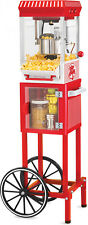 Popcorn Cart Stand Nostalgia KPM200 48 Tall Vintage Stand Collection 2.5 Oz NEW