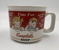 Vintage 1998 Campbell's Soup Bowl/Coffee Mug Cup 2 Kids Design Vtg Euc