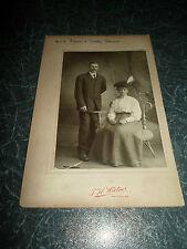 """Antique Vintage Cabinet Card """"Aunt Ellen+Uncle Steven"""" T H Wirtner, Patton PA"""
