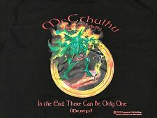 "L Vtg 1997 Cthulhu Dragon ""In The End There Can Only Be One"" T-Shirt Pegasus Pub"