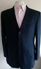 YSL Yves Saint Laurent Pure New Wool UK 40 Regular Coat Jacket Suit Navy