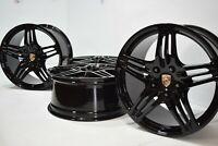 "19"" Porsche 911 997 Turbo 997 19"" Turbo Factory OEM black Wheels Rims"