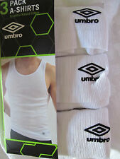 NWT 3 $30 UMBRO Tank Top Athletic Sleeveless Ribbed Cotton Shirts L Large
