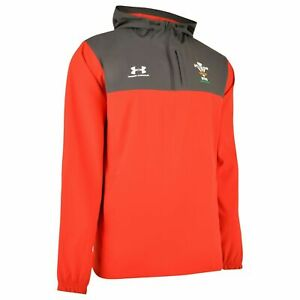 Under Armour WRU/Wales Rugby Player Issue 1/4 Zip Storm Technical Jacket-BNWT