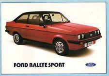 Ford Escort Mk2 RS 2000 & Custom 1978-80 mercado del Reino Unido Folleto de ventas
