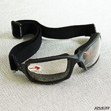 Motorcycle Photochromic Goggles Black Cafe Racer Bobber Ryca Motors