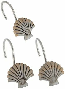 "Carnation Home Fashions ""Seaside"" shower curtain hooks, set of 12 CAR-PHP-SS/03"