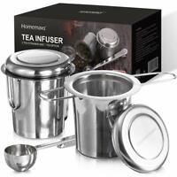 Edelstahl 2x Teesieb Teefilter rostfrei Sieb Filter Set + Zubehör Kannen Tassen