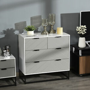 Modern Wooden Chest of 4 Drawers Sideboard Dresser for Bedroom Living Room