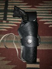 """Fits Heritage Rough Rider 22 Caliber 4 3/4"""" Western Drop Holster Black Leather"""