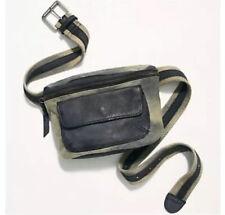 Free People Charlie Acid Wash Sling Bag Fanny Pack Handbag Gray & Black $68