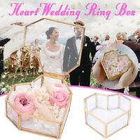 Heart Glass Jewelry Trinket Box Display Holder Storage Organizer Home Decor