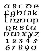 Celtic Gaelic Font Stencil