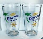 🍻 Corona Extra 16oz Pint Drinking Glasses Set Pack of 2 Beer Corona 🍻