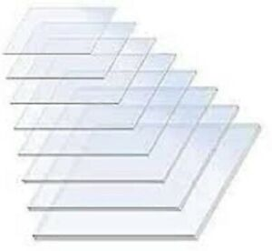 Transparent Acrylic Clear Perspex Sheets Custom Cut to Many Sizes